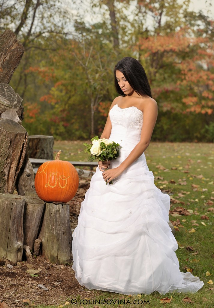 Elissa with Pumpkin