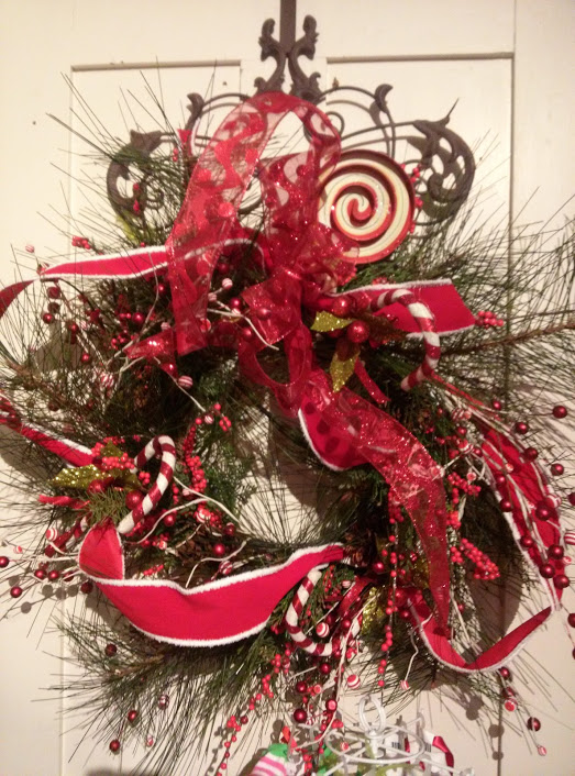 Cuttings 2015 Holiday Wreath with Red Ribbon