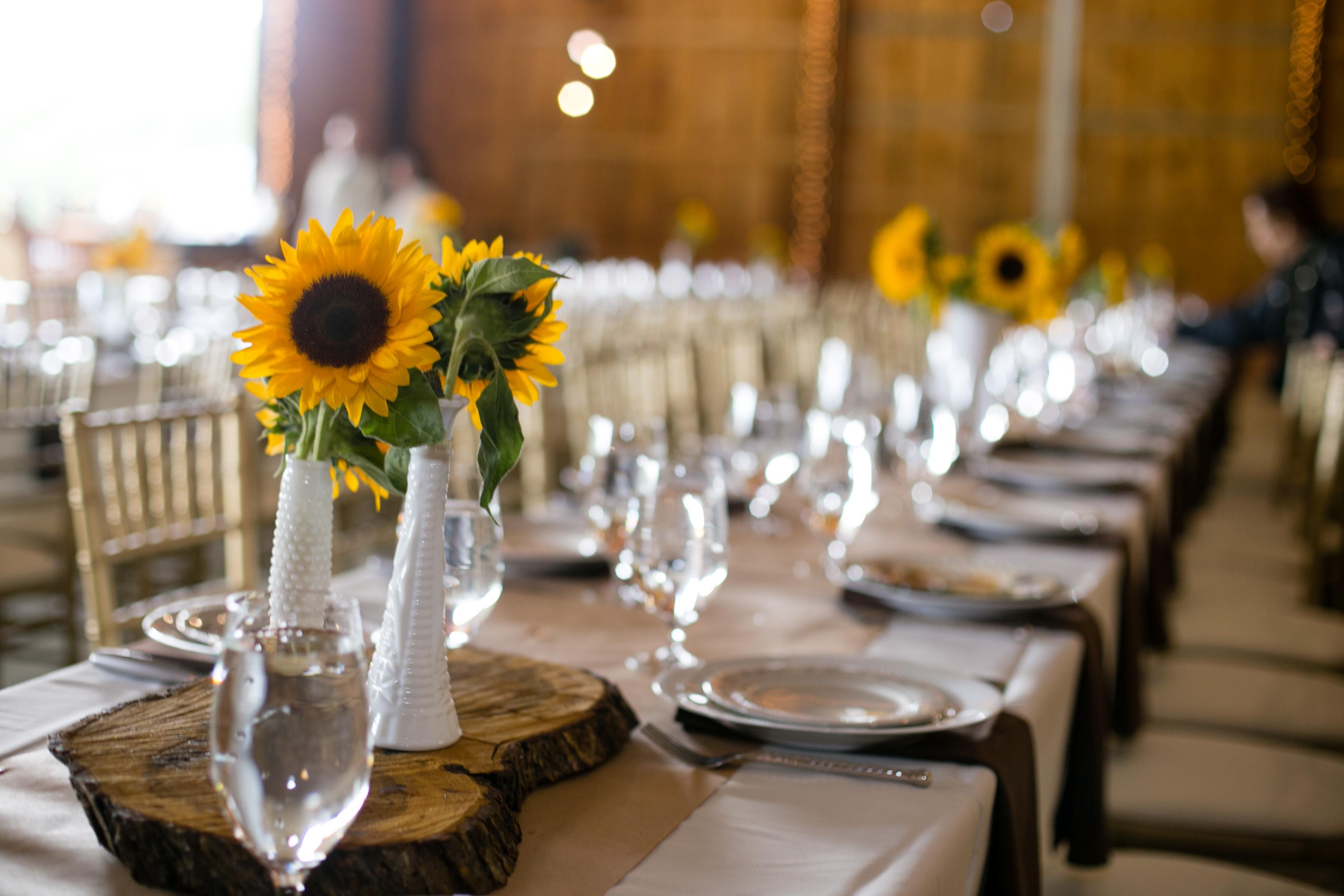 ... Elegant Sunflower Wedding Table Settings & Elegant Sunflower Wedding Table Settings u2013 Wedding